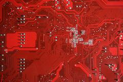 Red Printed circuit board PCB background Kuvituskuvat
