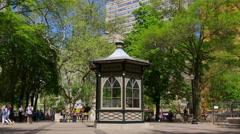 Rittenhouse square summer day philadelphia city 4k pennsylvania usa Stock Footage