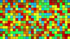 Glowing colorful tiles glass mosaic loopable background 4k (4096x2304) Stock Footage