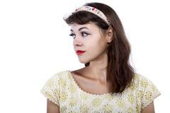 Stock Photo of Retro Girl Headshot