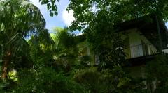 Summer day key west ernest hemingway house 4k florida usa Stock Footage