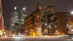 Toronto Flat Iron Building Timelapse Stock Footage