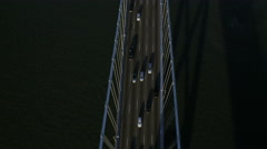 Aerial Oakland Bay Suspension Bridge San Francisco USA Stock Footage