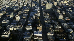 Aerial view Downtown San Francisco Oakland Bay bridge USA Stock Footage