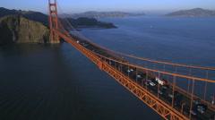 Aerial view Golden Gate Bridge San Francisco USA Stock Footage