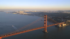 Aerial view Golden Gate Bridge San Francisco USA Stock Footage