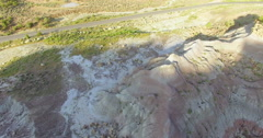Aerial view of mountains at Grand Mesa Scenic Byway near Grand Junction, Colorad Stock Footage