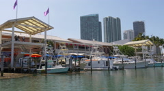 Summer day miami downtown bayside boat ride 4k florida usa Stock Footage