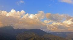 Bright clouds at sunset, Ridge Psakho. Sochi, Russia. 1280x720 Stock Footage