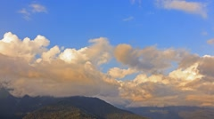 Clouds at sunset, Zoom. Ridge Psakho. Sochi, Russia. 1280x720 Stock Footage