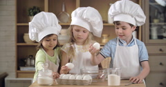 Cooking Class for Kids Stock Footage