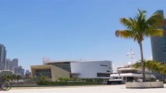 Summer day miami downtown science museum panorama 4k florida usa Stock Footage