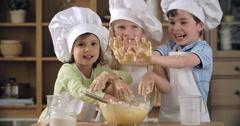 Joyful Cooking Training Stock Footage
