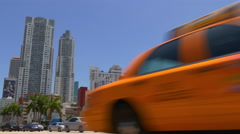 Stock Video Footage of sunny day miami city downtown traffic crossroad panorama 4k florida usa