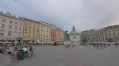 Main Square in the afternoon, Krakow Stock Footage