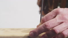 Removing a Nail from Wood Stock Footage