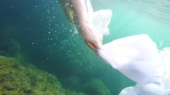 Woman under water, Slow Motion Stock Footage