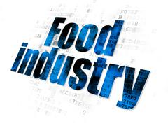 Industry concept: Food Industry on Digital background Stock Illustration