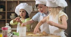 Baking Class in Preschool Stock Footage