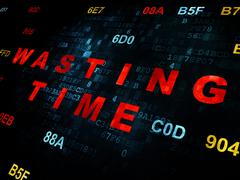 Time concept: Wasting Time on Digital background - stock illustration