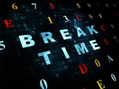 Stock Illustration of Time concept: Break Time on Digital background