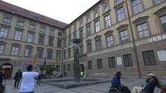 The Richard-Strauss fountain in Munich Stock Footage