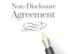 Non-Disclosure Agreement - stock illustration