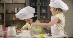 Little Baking Masters Stock Footage