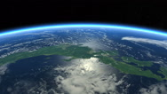 Stock Video Footage of Japan from space. Tracking Shot. day light, top-view