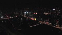 Shenyang city lights, China, night Stock Footage