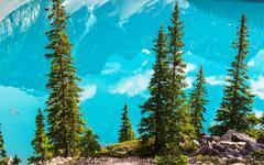 Moraine lake - stock photo