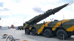 Self-loading launcher 'Elbrus'. (P-17 SS-1c Scud) Ekaterinburg, Russia. 1280x720 Stock Footage