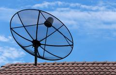 Stock Photo of satellite dish.