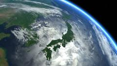Japan from space. Japanese islands. Earth From Space. Stock Footage