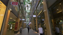 The Kaufingertor Passage in Munich Stock Footage