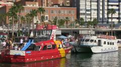 Malaga Tourist Ships Stock Footage