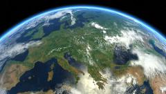 Europe from space. Earth From Space. Stock Footage