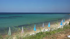 View to the open sea and sheer island coastline. Mediterranean Stock Footage