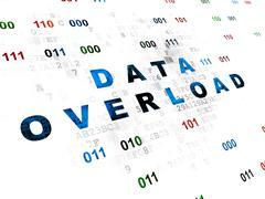 Stock Illustration of Information concept: Data Overload on Digital background