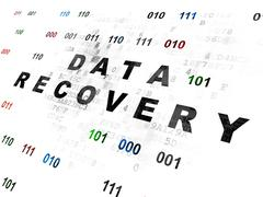 Stock Illustration of Data concept: Data Recovery on Digital background