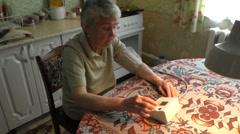 Woman takes arterial blood pressure Stock Footage