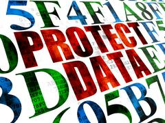 Safety concept: Protect Data on Digital background - stock illustration