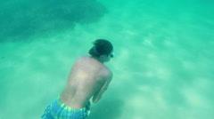 Underwater Breath Hold Training Stock Footage