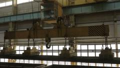 Factory on manufacture of steel products Stock Footage