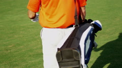 Professional Male Caucasian Playing Sport Golf Commercial Sponsorship Wealth - stock footage