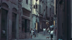 The narrow street of the ancient Italian city. Stock Footage