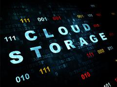 Stock Illustration of Cloud technology concept: Cloud Storage on Digital background