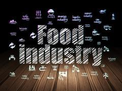 Industry concept: Food Industry in grunge dark room Stock Illustration
