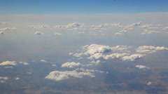 View of clouds from the plane Stock Footage