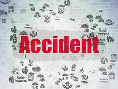 Insurance concept: Accident on Digital Paper background - stock illustration